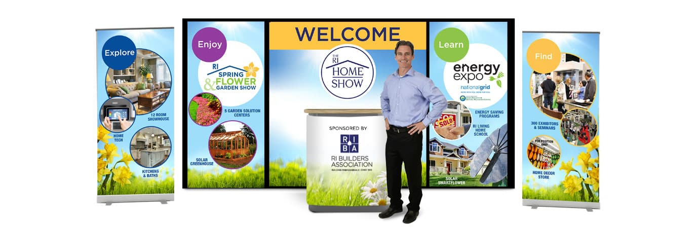 PMC Media Group Booth Designs for trade shows