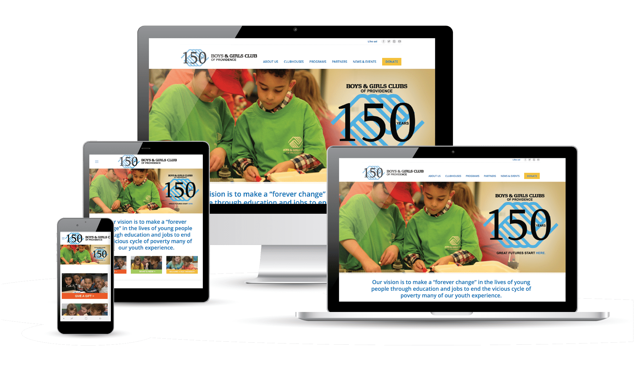 PMC Media Web portfolio Boys & Girls Club